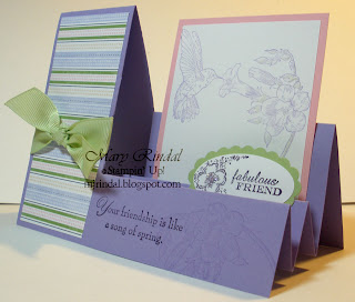 rubber stamp, stampin' up, stair step card, spring song, stamping