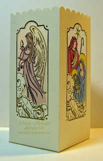 stampin up christmas nativity candle holder luminary tea light