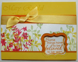 stampin up, just believe