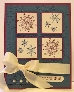 stampin up, mojo monday, serene snowflakes