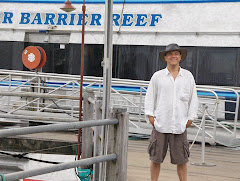 Jack getting ready to board a ferry to the Great Barrier Reef ... Amazing