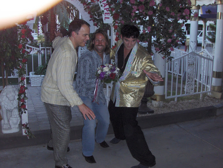 Jack, Brian Swan, our best man & Elvis