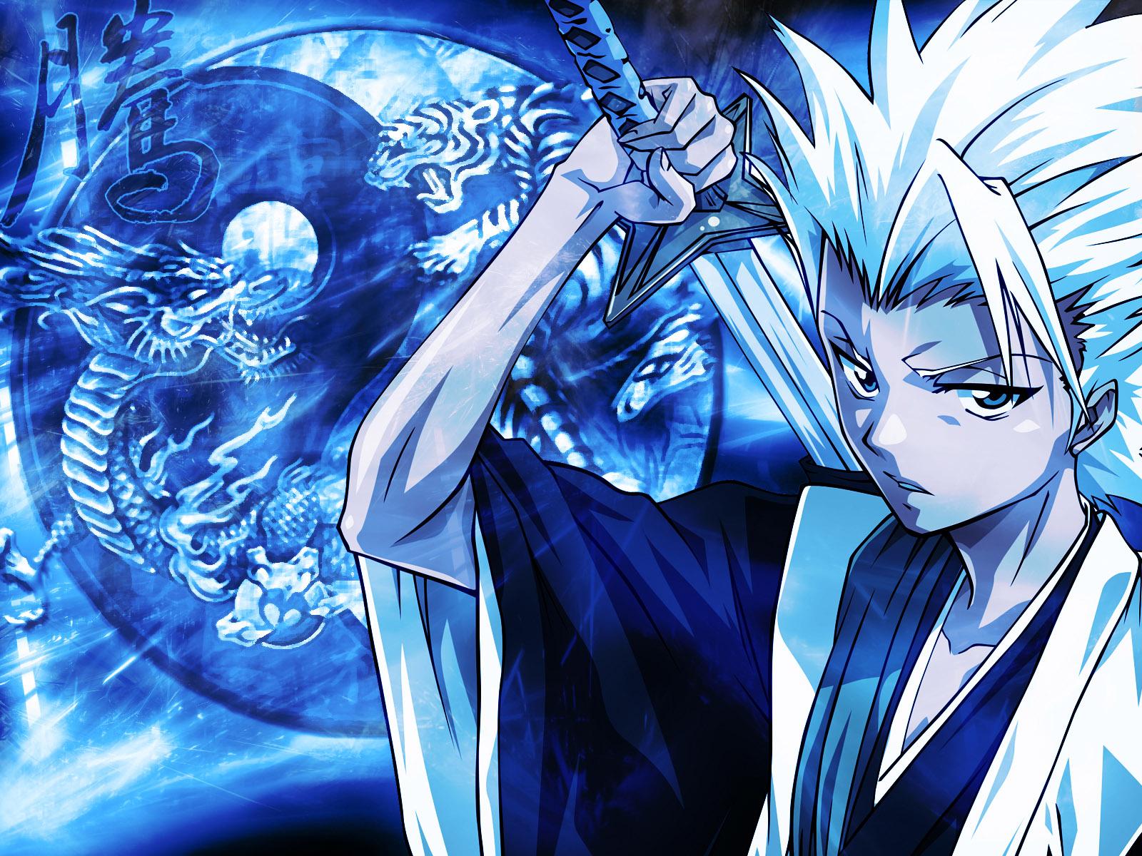 Blue Hitsugaya Toshirou Bleach Anime Wallpaper