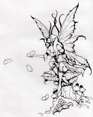 pixie fairy tattoo. Legend has it that fairies would reward those who were