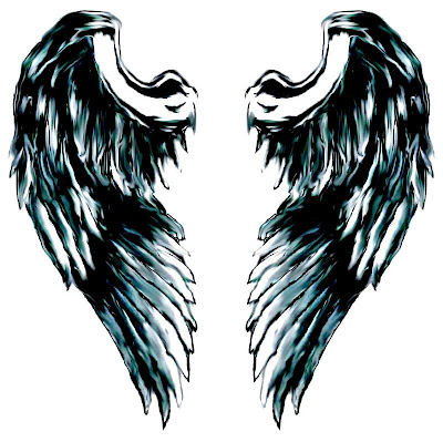 Tattered Wings Full Back Piece Tattoo Tribal Angel Wing Tattoos · Angel