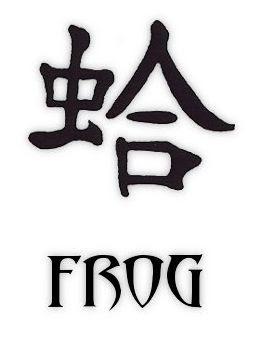 Kanji Frog Tattoo Symbols