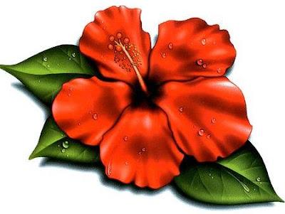 hawaiian flowers cartoon. hawaiian flowers tattoos.