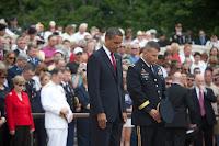 Barack Obama au cimetière de Arlington