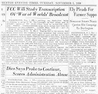 Article de presse du 1er novembre 1938