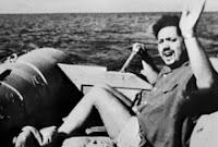 Alain Bompard à bord de l'Hérétique