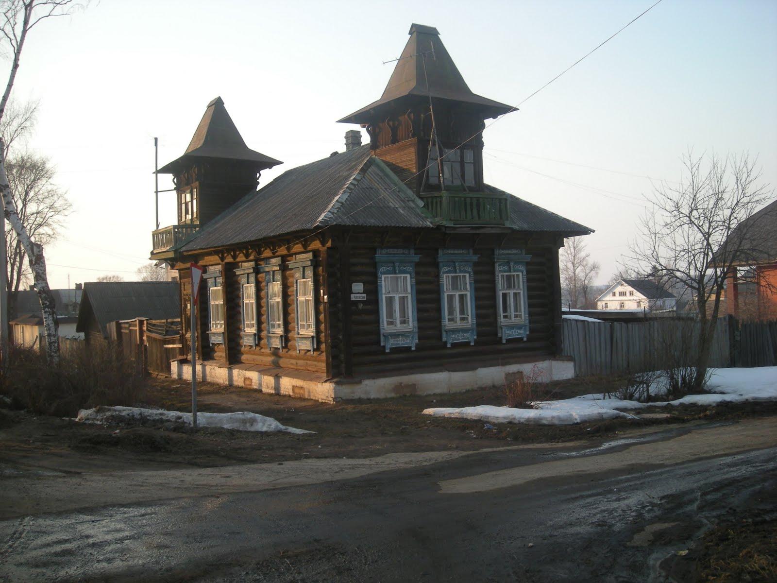 Russische Blockhäuser tutajev in russland perle an der wolga die alten russischen gebäude