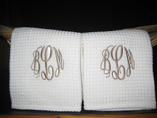 These Towels Are White Waffle Weave And Look So Great Monogrammed! The  Thread I Use Can Be Bleached So Do Not Worry About Truly Using Your Towels.