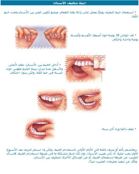 أنواع خيوط تنظيف الاسنان dental flosses
