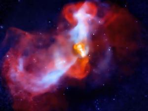 Foto Ledakan Raksasa Galaksi M87
