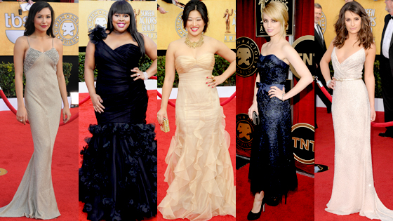 One of my favorite groups to see all dressed up is the cast of Glee,