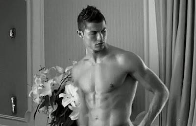 Cristian Ronaldo Shirtless in Armani Ad