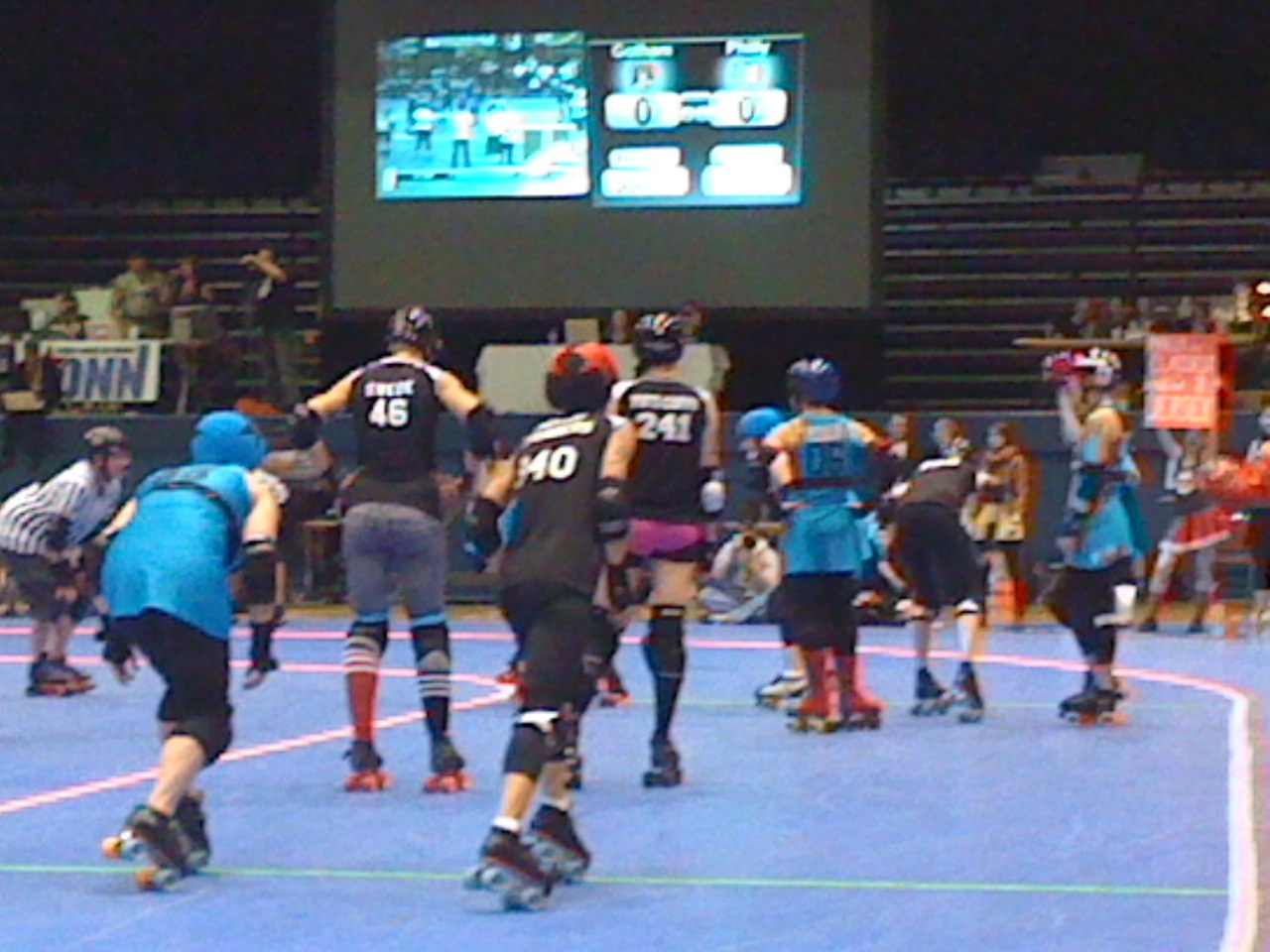 Roller skating rink westchester ny - Philly Vs Gotham Notice How Some Blockers Started Closer To The Jammer Line Getting Ready To Execute The Slow Game Strategy