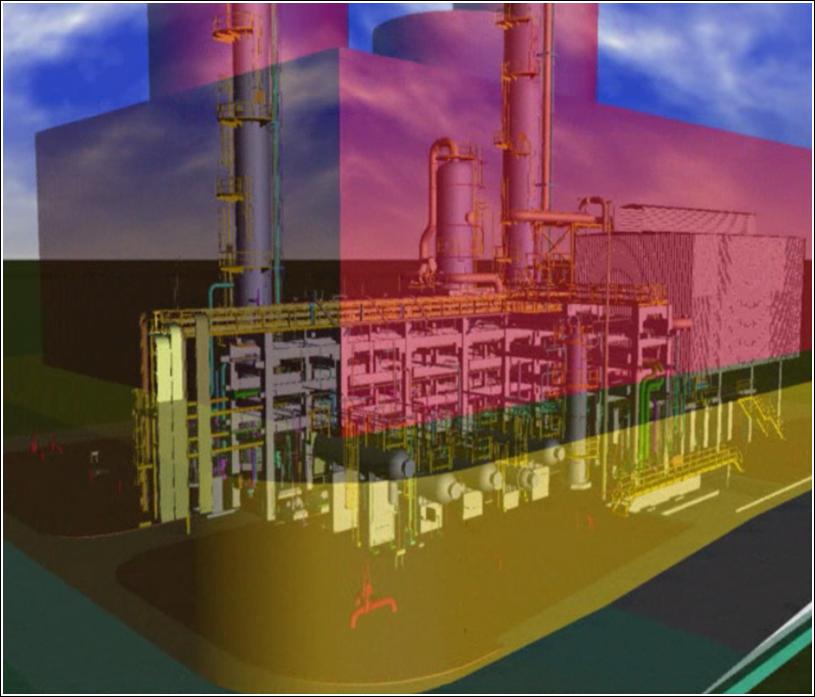 Classificação de áreas contendo gases inflamáveis elaborado em CAD 3D - Planta de Propeno