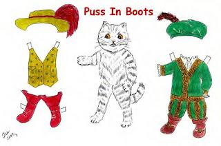 gato de botas boneco de papel