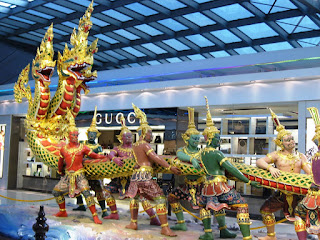 Sculpture at the Suvarnabhoomi Airport in Bangkok