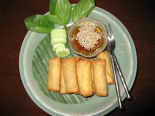 Spring-rolls at Baan Khanitha Bangkok