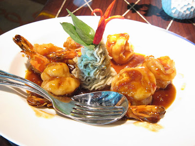 Stir Fried Prawns at Blue Ginger Delhi