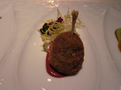 Quail Trio at Michael Mina: Leg Confit