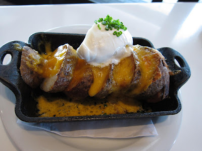 Baked potatoes at LB Steak
