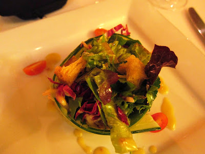 Gourmet salad at Dry Creek Kitchen Healdsburg