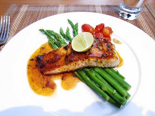 Grilled Norwegian Salmon at Sen5es Pune