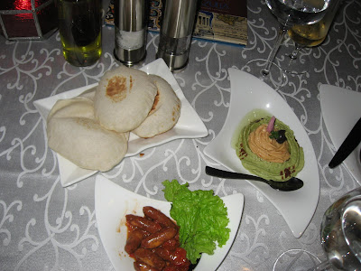 Soujok, Hummus and Pita at Azulia Chennai