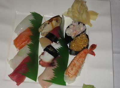 Sushi platter at Fuki Sushi