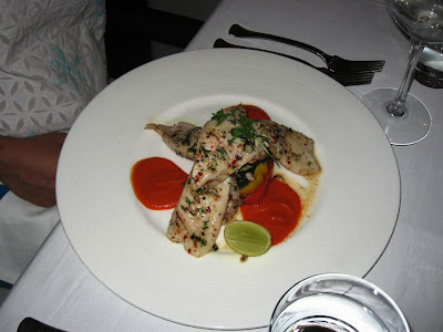 Chilli Coriander Crusted Pomfret at Stone Water Grill
