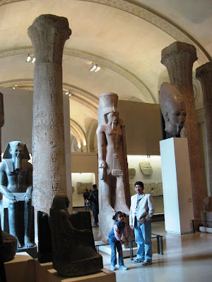 Remains of Egyptian temple at Louvre