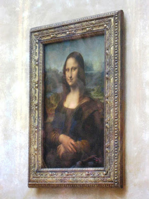 The Mona Lisa at Louvre