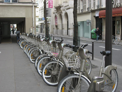 Bicycles in Paris