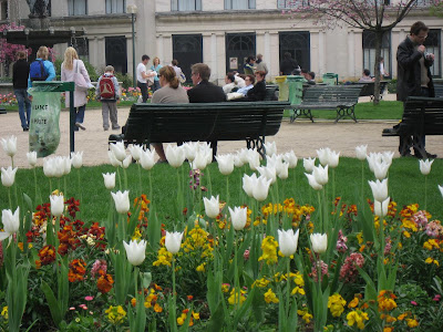 Park along the Champs Elysees