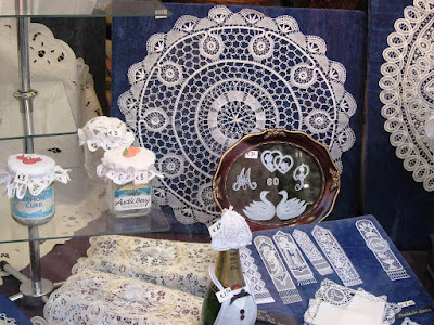 Handmade lace in Bruges