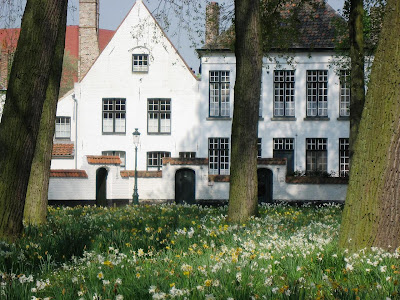Medieval beguinage in Bruges