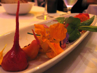 Baby Beets and Burrata at Cortez