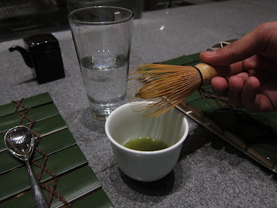 Matcha tea whisk at Edo Bangalore