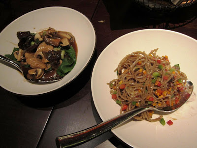 Soba Noodles and Mushroom Bok Choy at Shakahari