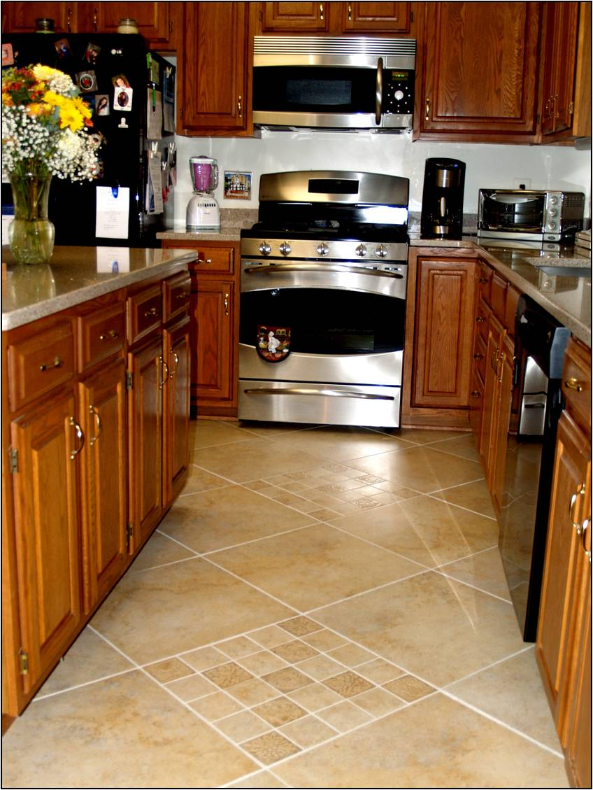 P s i love this floored - Small kitchen floor tile ideas ...