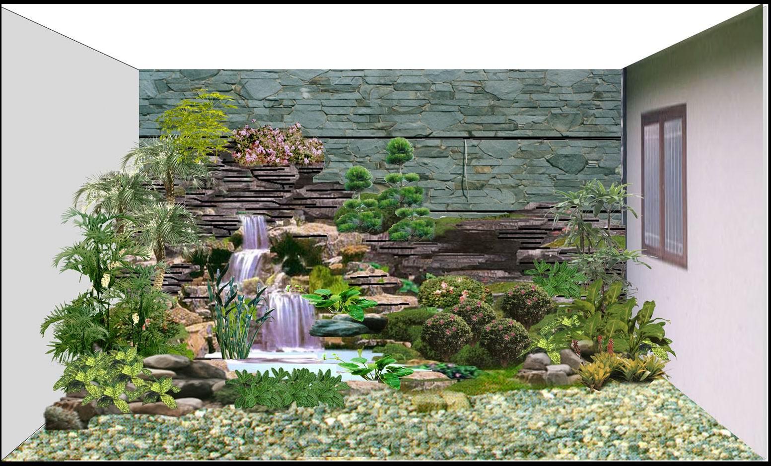 gambar taman rumah mungil