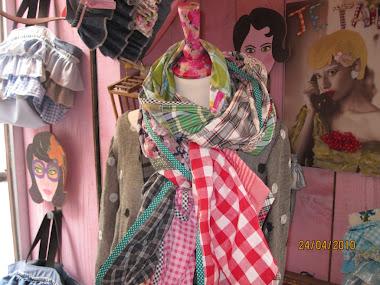 écharpe mixte en patchwork