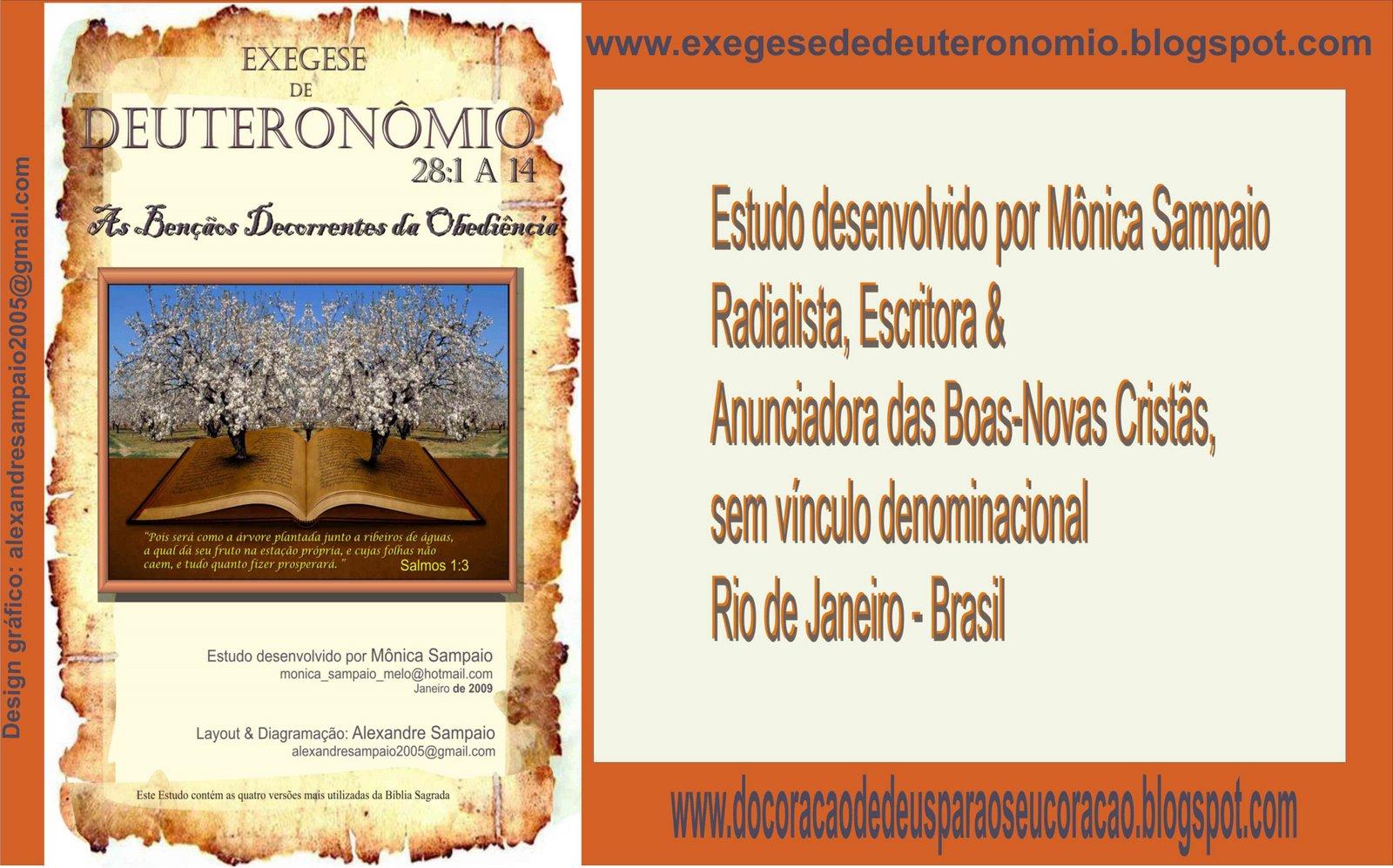 EXEGESE DE DEUTERONÔMIO 28: 1 a 14