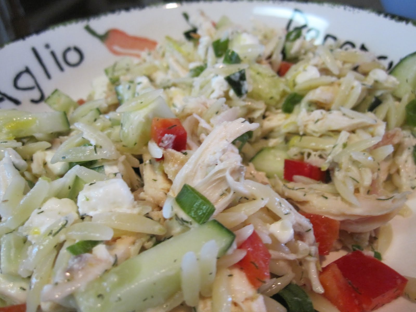 taylor made...: ... Lemony Orzo-Veggie Salad with Chicken