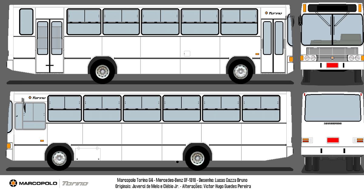 Marco Polo Torino : Desenhos de Ônibus marcopolo torino g mercedes benz of