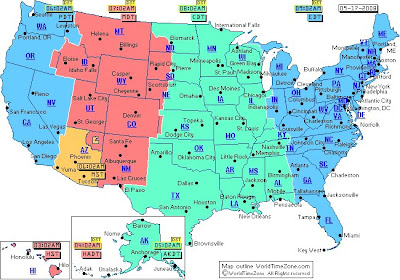 Usa Map Time Zone