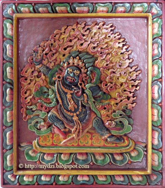 Buddhist Standing Vajrapani Wood
